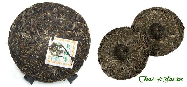 прессованный чай в виде блинов